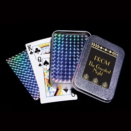 Foil Playing Card with Tin