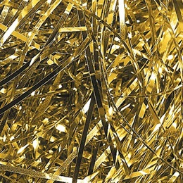 Colored Tinsel Shred- Gold