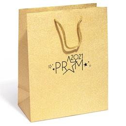 Prom 2021 Gold Glitter Gift Bag