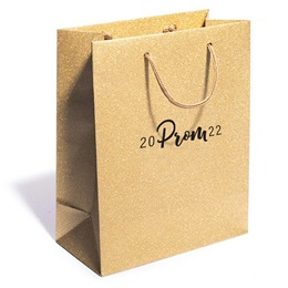 Gold Glitter Prom Gift Bag