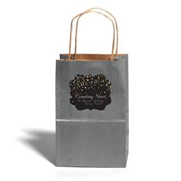 Small Silver Kraft Bag with Full-color Custom Sticker