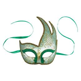 Green Hand Decorated Mask