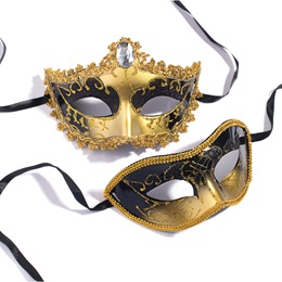 Gold and Black Mask Set