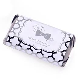 Metallic Foil Mini Candy Bar Wrappers - Silver Moroccan