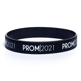 Prom 2021 Wristband - Black With White Print