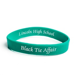Custom Dual-sided Silicone Wristband - Green