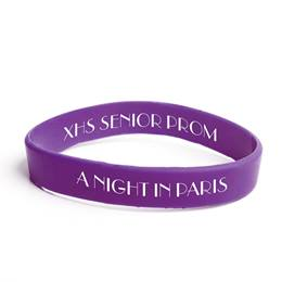 Custom Dual-sided Silicone Wristband - Purple