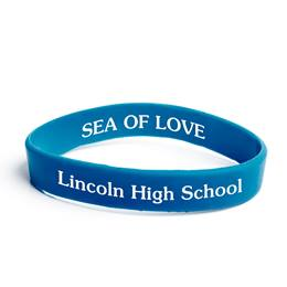 Custom Dual-sided Silicone Wristband - Royal Blue