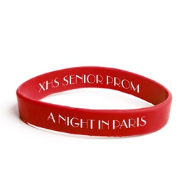 Custom Dual-sided Silicone Wristband - Red