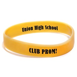 Custom Dual-sided Silicone Wristband - Yellow