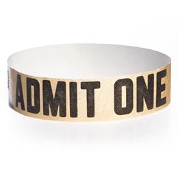 Admit One One-Day Wristband - Metallic Gold