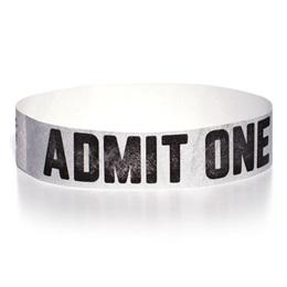 Admit One One-Day Wristband - Metallic Silver
