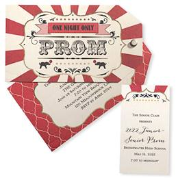 Invitation and Ticket Set - Circus
