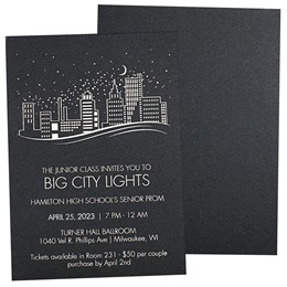 Foil Skyline Shimmer Invitation
