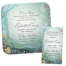 Invitation and Ticket Set - Evening Garden