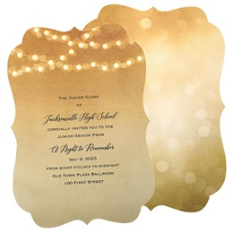 Lighted Golden Glow Invitation