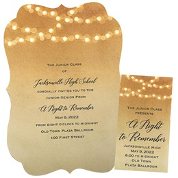 Invitation and Ticket Set - Lighted Golden Glow