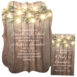 Invitation and Ticket Set - Lighted Tree Branch