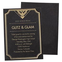 Glitz & Glam Foil Invitation