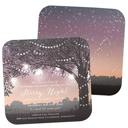 Starry Twilight Invitation