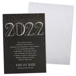 Grand 2020 Dotted Foil Invitation