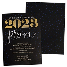 2020 Prom Luxury Foil Invitation