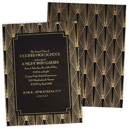Art Deco Luxury Foil Invitation