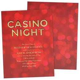 Casino Night Luxury Foil Invitation