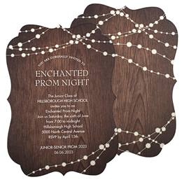 Wood & Lights Invitation