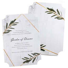 Garden Leaves Invitation