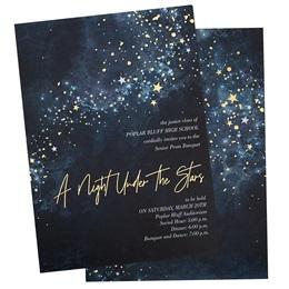 Midnight Galaxy Luxury Foil Invitation