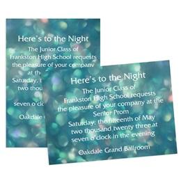 Prism Bubbles 4x6 Invitation