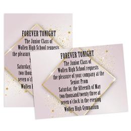 Golden Starshine 4x6 Invitation