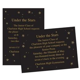 Midnight Stars 4x6 Invitation