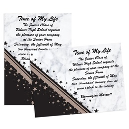 Day and Night Sparkle 4x6 Invitation