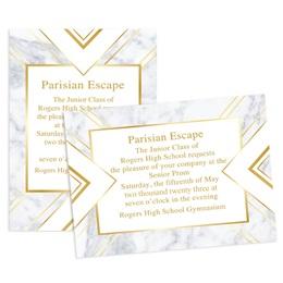 Elegant Marble 4x6 Invitation