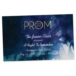 Full-color Ticket - Watercolor Gold Prom