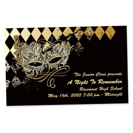 Full-color Ticket - Gilded Masquerade