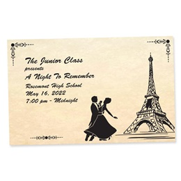 Full-color Ticket - Old Time Paris