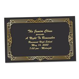 Full-color Ticket - Art Deco Frame