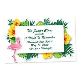 Flamingo Tropic Full-color Ticket