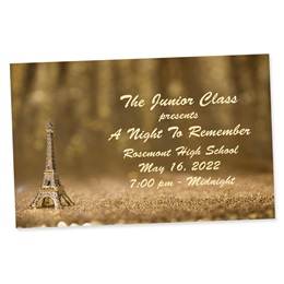 Full-color Ticket - Gold Glitter Paris