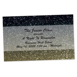 Full-color Ticket - Gold Glitter Ombre