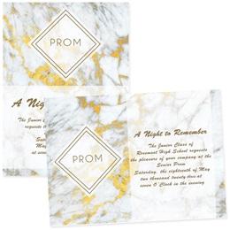 "Marble Prom 5"" x 7"" Invitation"