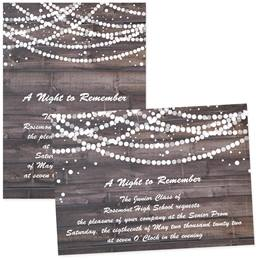 "Rustic Glam 5"" x 7"" Invitation"