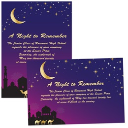 "Night in Arabia 5"" x 7"" Invitation"
