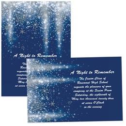 "Snowflakes and Stars 5"" x 7"" Invitation"
