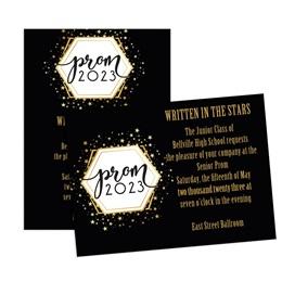 Golden Cosmos Prom 2021 5x7 Invitation