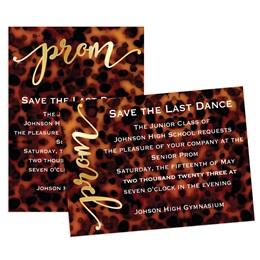Animal Print Prom 5x7 Invitation