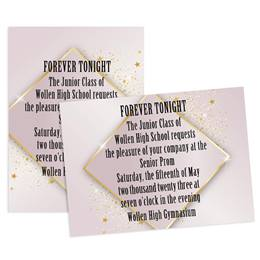 Golden Starshine 5x7 Invitation